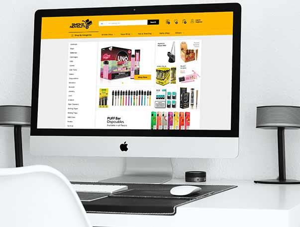 Vape shop design and development