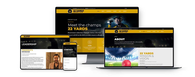 cricket club wordpress website