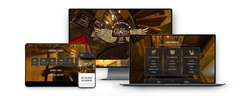 Clippers Men Women salon website design and development